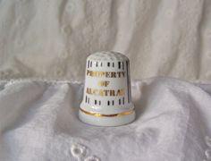 Vintage Alcatraz Porcelain Thimble Jail Bars by cynthiasattic