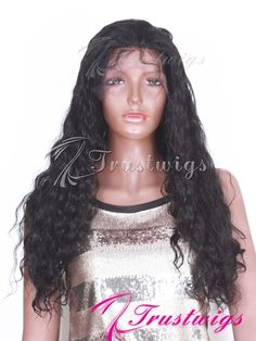 Spanish Wave Texture Indian Remy Hair Full Lace Wig