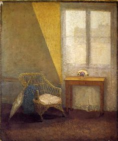 A Corner of the Artist's Room in Paris by Gwen John. Medium: Oil on canvas; Exhibitions: Gwen John and Celia Paul: Painters in Parallel; The Empty Chair, Gwen John, Mary John, Critique D'art, Attic Renovation, Attic Remodel, Paris Art, Attic Rooms, Attic Playroom