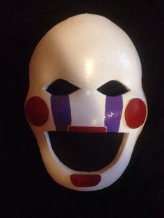 fnaf mask Puppet mask marionette mask Five Nights at Freddy's mask FNAF Freddy's puppet mask cosplay costume by geekstuffvzla on Etsy https://www.etsy.com/listing/244030228/fnaf-mask-puppet-mask-marionette-mask