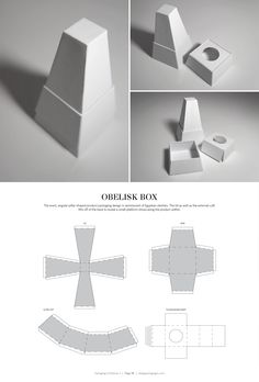Obelisk Box – structural packaging design dielines