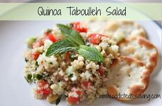 Clean eating is easy with this Quinoa Tabbouleh Salad Recipe