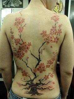 Cherry Blossom Back piece by ~GlassBeetle on deviantART