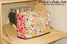 Diary of a Crafty Lady: Sewing Machine Covereasy directs to make a sewing machine cover.