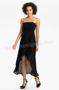 Strapless Silk Cocktail Dress