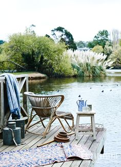 Country Style magazine. Your rowboat awaits, well equipped for a picnic on Lake Daylesford. Photography Lisa Cohen, Styling Tessa Kavanagn. #decorating