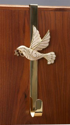 This Finely Finished Over The Door Wreath Hanger Boasts A Cloisonne Dove Design And Comes In