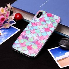 Colored Ripples Matte Soft TPU Back Cover for iPhone XS Max inch) from Guuds Iphone 8 Plus, Iphone 7, Iphone Parts, 6s Plus, Protective Cases, Cover, Phone Cases, Pure Products, Pattern