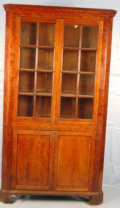 111 Mahogany Empire China Cabinet Vintage Antique