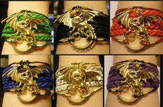 Dragon bracelet dragon jewelry leather by LJsBraceletBoutique