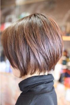 Brown Short Aline Bob