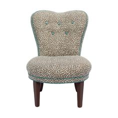 Turquoise and Cheetah Chair  | H & H Home. I need this for my dorm!!!