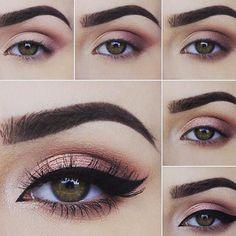 - Make-up - - Schminke - # . - Make-up - Eye Makeup Glitter, Mauve Makeup, Skin Makeup, Eyeshadow Makeup, Makeup Over 50, Makeup 101, Makeup Goals, Makeup Inspo, Makeup Eye Looks