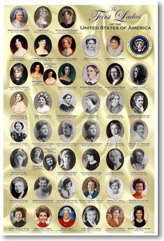 American History: The First Ladies of the United States, Classroom Poster & Education Women In History, History Facts, World History, Black History, History Timeline, Ancient History, History Photos, European History, Presidents Wives