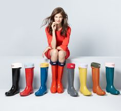 Have black. Love the blue!   Hunter Boots 136 Ways