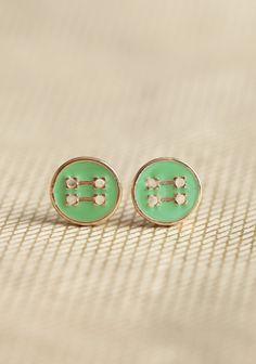 ShopRuche.com  Buttoned Up Earrings