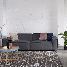 Edge Sofa - Dark Grey by FEST Amsterdam | MONOQI #bestofdesign | Origin Netherlands | Material Upholstery: Polyester. Filling: Foam. Frame: Fibreboard, Pine, Hardboard.