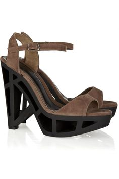 Cutout-heel suede sandals by Marni