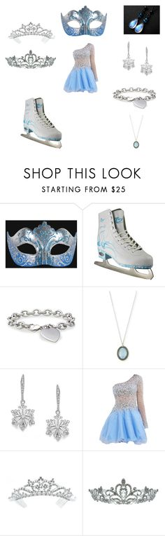 """""""Ice Princess"""" by laluna5 ❤ liked on Polyvore featuring Masquerade, Blue Nile, Armenta and Kate Marie"""