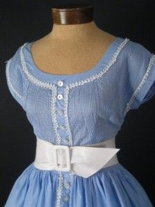 This scrumptious blue dress was sold at http://www.bluevelvetvintage.com