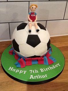 Football cake #football #westham #footballbirthdaycake www.thelastcrumb.co.uk
