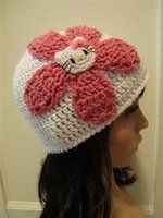 Hello kitty flower hat anime by ~Irenescrochet on deviantART