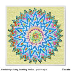 BlueStar Sparkling Soothing Healing Chakra Poster