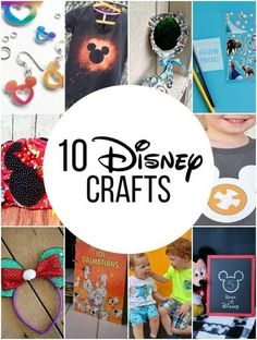 If you are planning a trip to Disney or have Disney fans in your house, check out these FUN and easy Disney crafts! There are tons of ideas here, including a step by step tutorial on how to make your own Disney bleached shirt! #teachmama #disney #disneycrafts #disneyvacation #disneydiy #kidscrafts #craftideas