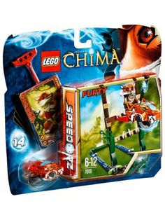 LEGO 70111 Chima Skok przez bagno Z serii Legends of Chima! Królestwo Chima jest magiczną krainą rządzoną przez bardzo rozwinięte zwierzęce istoty. Posadź Furty'ego na lisim Speedorze, pociągnij za linkę i przeskocz nad bagnem, aby zdobyć CHI! Dołącz elementy dodatkowe, by zwiększyć stabilność. Zestaw zawiera: minifigurkę Furty'ego, 2 bronie, przezroczystego Speedora, linkę, elementy dodatkowe, 6 CHI i 5 kart do gry. Wypróbuj swoją celność i refleks!
