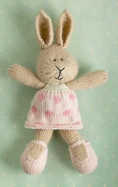 Ravelry: Project Gallery for bunny girl in a dotty dress pattern by Julie Williams