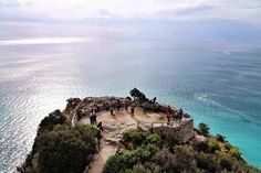 The view from the tower of Punta Crena in #liguria - #finaleligure