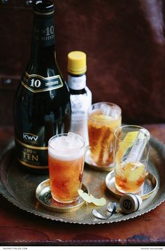A classy start to an evening or a refreshing end to a long day - make sure to try this brandy cocktail!