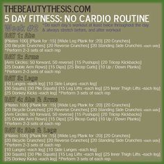 Share on Pinterest Share Share on Facebook Share Share on TwitterTweet Share on Google Plus Share Share on LinkedIn Share Share on Digg Share Hey loves! How have your no cardio routines been going? I hope you've at least given it a go! I do my routines daily when I wake up, and before I ... [Read more...]
