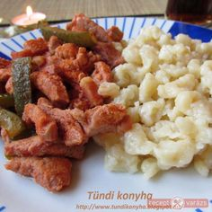Hentes tokány Mashed Potatoes, Food And Drink, Meat, Chicken, Ethnic Recipes, Whipped Potatoes, Smash Potatoes, Cubs
