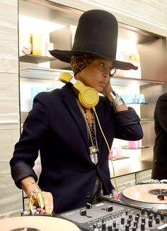 Erykah Badu at the celebration for Fendi's new 3Baguette charity initiative