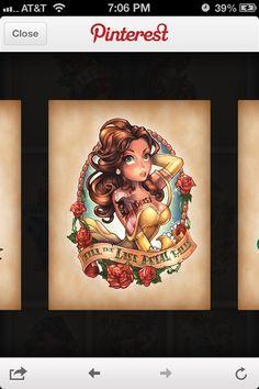 awesome Disney Tattoo - Bell Disney princess tattoo...