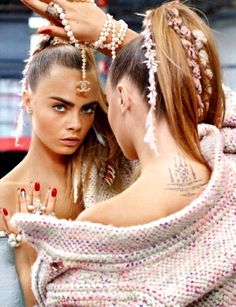 Cara Delevingne by Karl Lagerfeld for Chanel F/W 2014.15 - Cara Jocelyn Delevingne is an English fashion model, socialite, actress and singer.