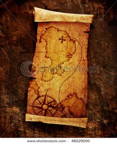 treasure map- I think this could make an awesome tattoo