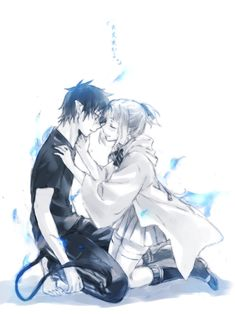 Ao no Exorcist- Rin and Shiemi