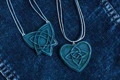 blue celtic pendant knotwork necklace celtic knot necklace