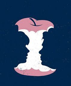 Elma çöpü diye düşünmeyin aslında karşılıklı iki kişi konuşuyor.