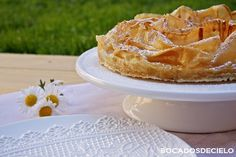 Tarta ruffle milk pie Apple Pie, Pasta, Queso, Cake, Arabic Recipes, Apple Desserts, Donut Holes, Cook, Kuchen