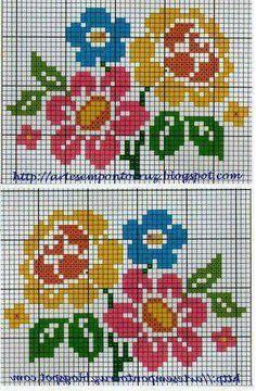 Biscornu Cross Stitch, Cross Stitch Borders, Cross Stitch Flowers, Cross Stitch Designs, Cross Stitching, Cross Stitch Embroidery, Cross Stitch Patterns, Loom Patterns, Crochet Patterns