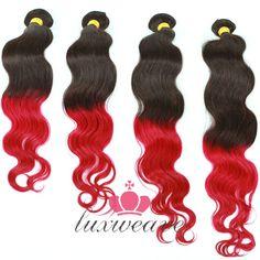 High Quality Mink Brazilian Hair 4Pcs Hair Wefts Ombre Color 4Pcs