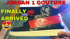 Jordan 1 Couture finally arrived from in Germany to me in Alton, which is in Hampshire in the UK (moved out the London Hood for the kids). So finally g.