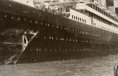 RMS Olympic after the collision