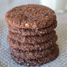 Mind blowing vegan chocolate chunk oatmeal cookies.