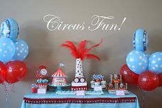 Circus Carnival Red & Blue Personalized Printable by Dimpleprints, $30.00