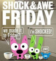 We made it-again! Happy Friday! #TGIF #coffee