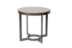 """Palmer Ribbed Iron Side Table   Dimensions 26.5""""H x 28""""Dia.   Custom Sizing Available   45 Unique Hand-Applied Finishes   Made in USA"""